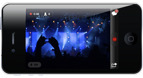 iphonescreenshot 500x275 Justin.tv updates for iOS4; now has live video recording for iPhone 4 and 3GS