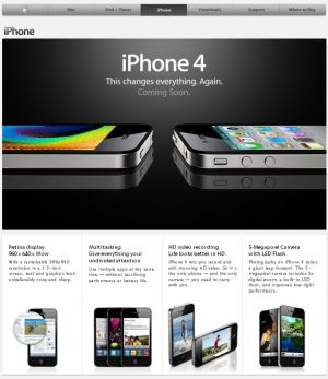 MENA iPhone page without FaceTime ad
