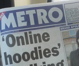 metro 260x217 UKs Metro newspaper posts reviews as Foursquare tips