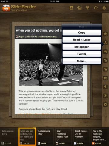 Screenshot for sharing using Slidereader