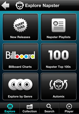 napster1 Listen up. Napster launches iPhone and iPad apps.