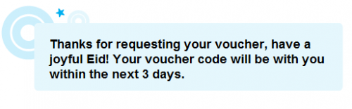 You should receive it within 3 days from