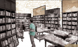 Bookstore shot from Diwan
