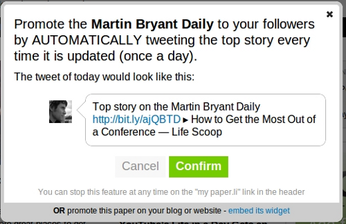 paperli tweet  After a Twitter revolt, Paper.li makes its auto tweets less spammy