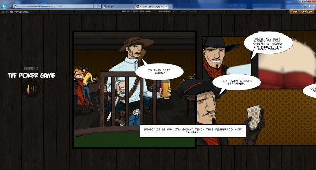 poker IE9 tells you to Never Mind The Bullets with interactive comic to showcase HTML5