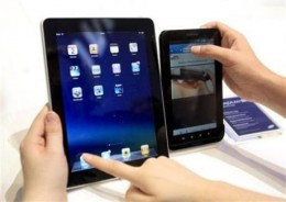 samsung galaxy tablet vs apple ipad 260x184 Samsungs Galaxy tablet will land on AT&T, Verizon, Sprint and T Mobile in the US