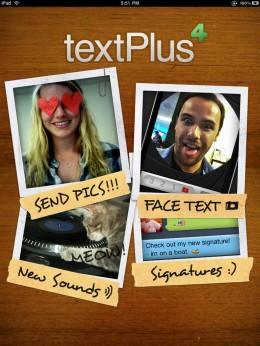 tP4 iPad  APP STORE  Welcome 260x346 textPlus, a truly better text and picture messaging app, gets some major upgrades