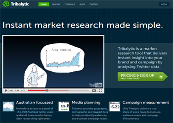 tribalytic Twitter based market research tool, Tribalytic, launches