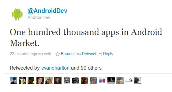 100k Android Market Now At 100,000 Apps And Counting