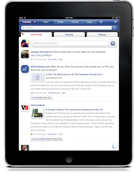 111 Friendly, the best Facebook app for iPad just got a whole lot better