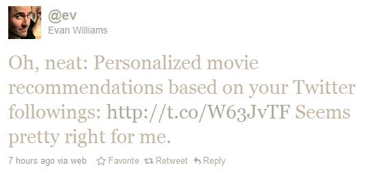 2010 10 07 1933 Movie recommendations, powered by Twitter? Mombo please!