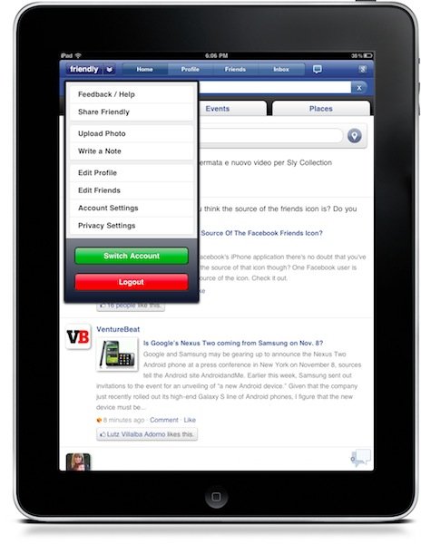 22 Friendly, the best Facebook app for iPad just got a whole lot better