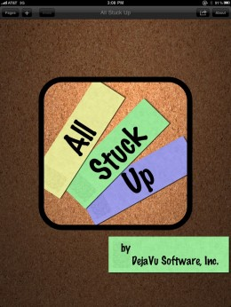 AllStuckUpiPadHome 260x346 All Stuck Up for iPad. Basic task management and little else.