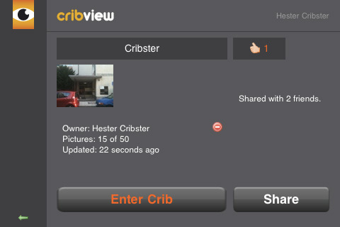 CribView1 Crib View. A creepy way to share where you live.