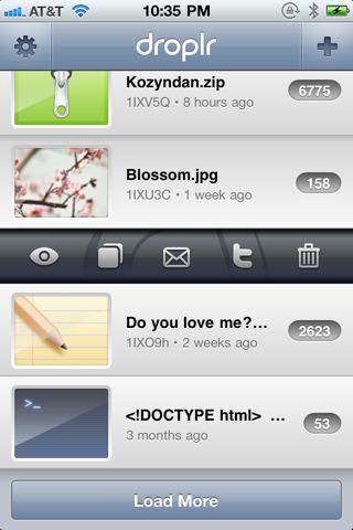 Droplr2 Drops what youre doing and get Droplr for iPhone.