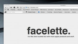 Facelette 260x147 facelette. Like chat roulette but with more apple products and stuff
