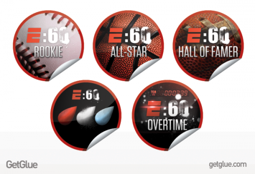 GetGlue E60 Stickers 500x341 GetGlue gets spooky, sporty, and more social with new partnerships