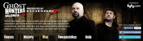 GetGlue Ghost Hunters 500x146 GetGlue gets spooky, sporty, and more social with new partnerships