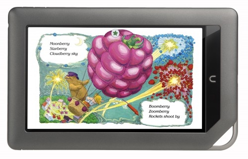 NOOK kids book on NOOKcolor 500x321 One million Nooks in, Barnes & Noble splashes the Nook with Color