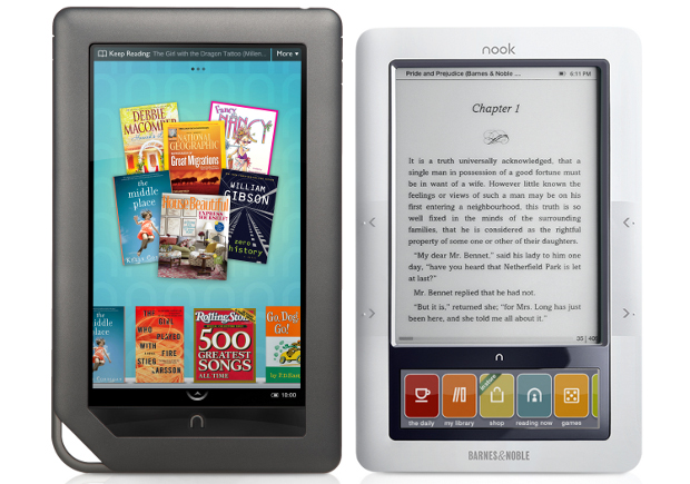 NOOKsidebyside One million Nooks in, Barnes & Noble splashes the Nook with Color