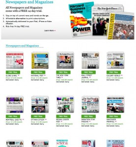 Newspapers and Magazines 277x300 Kobo Adds Newspaper & Magazine Subscriptions