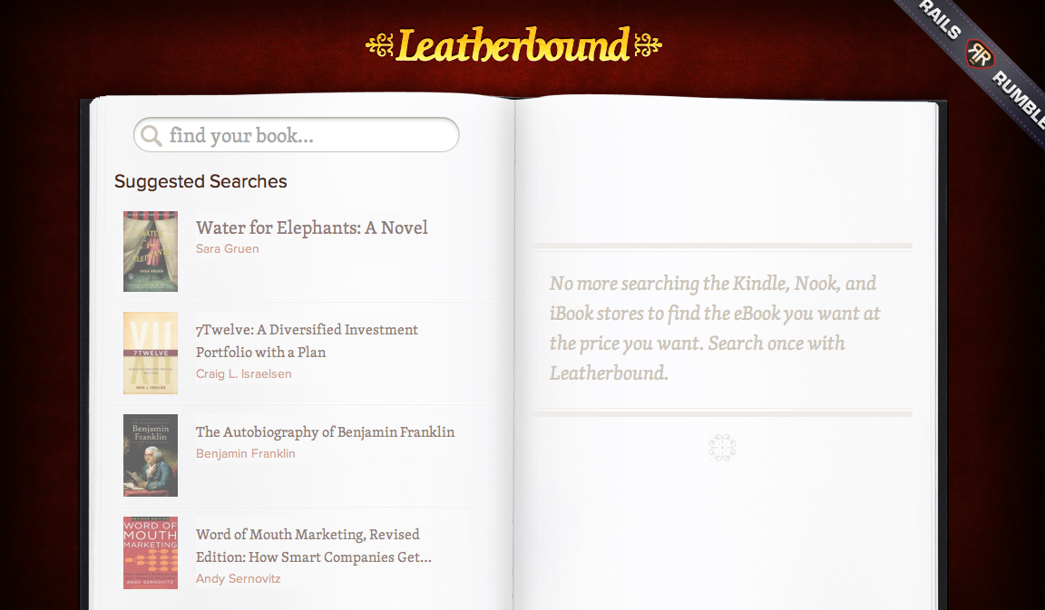 Picture 13 Leatherbound: Comparison pricing for eBooks