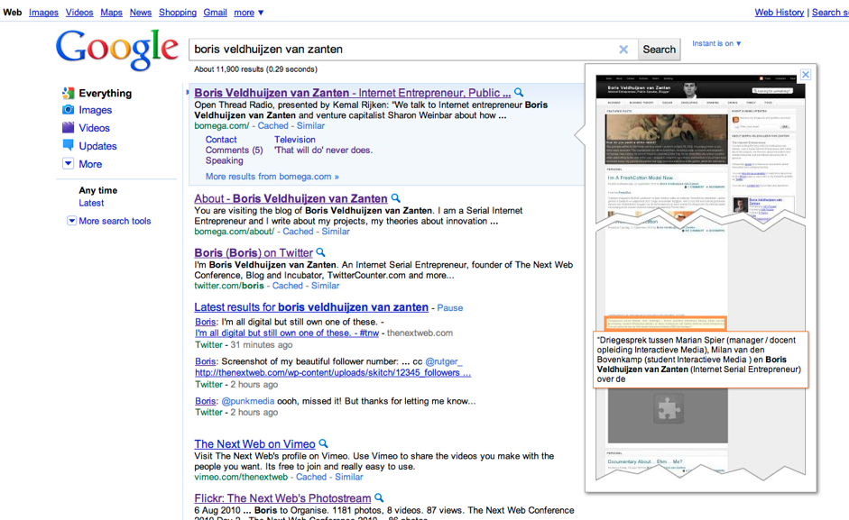 Picture 40 Google Testing Previews in Search Results