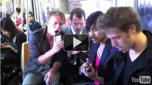 Weekend Beat – Jamming on iPhones in the Subway