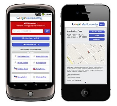 Screen shot 2010 10 30 at 08.39.22 Google rolls out new mobile site for US midterm elections