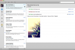 Sparrow1 260x173 Sparrow. A Mac Mail client fluttering aimlessly with little originality.