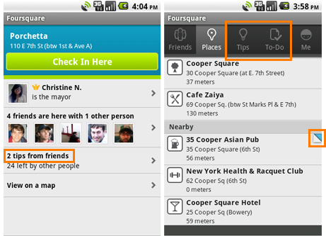 Androids get to play Foursquare 2.0 now too