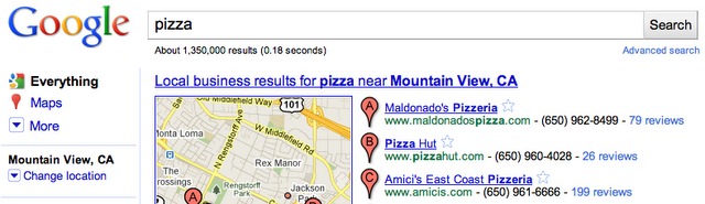 blog post lu at 1 The Mayer Effect? Google makes changing your location in search easier