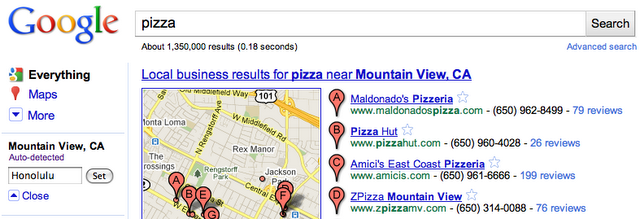 blog post set hawaii The Mayer Effect? Google makes changing your location in search easier