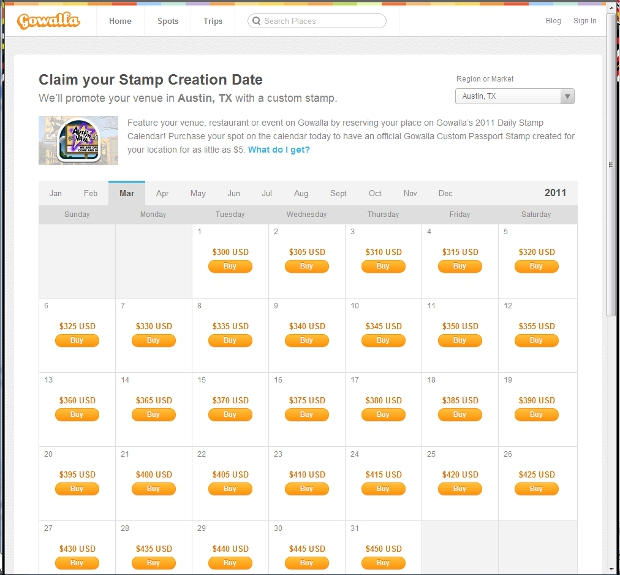 calendar Gowalla adds polished city pages to website, new options for businesses