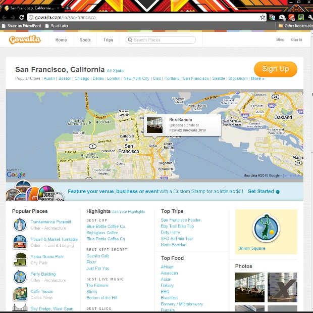 city Gowalla adds polished city pages to website, new options for businesses