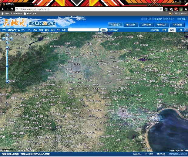 cnmap China unveils state run online mapping site