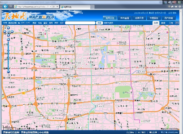 cnmap2 China unveils state run online mapping site
