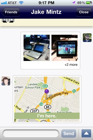 "Bump iPhone app now lets you send ""location snapshots"" to friends"