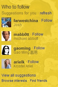 follow Twitters Who to follow is so good now, it can predict real life meetings