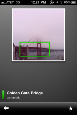 goggles golden gate bridge overlay results 260x390 Google Goggles comes to the iPhone. Search what you see.