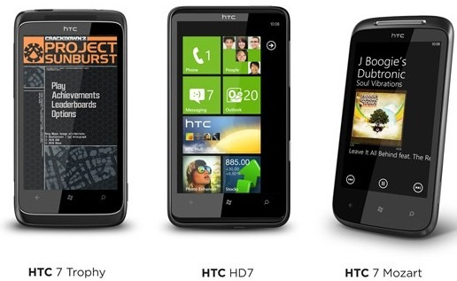 HTC posts overview videos of HD7, Mozart and Trophy handsets