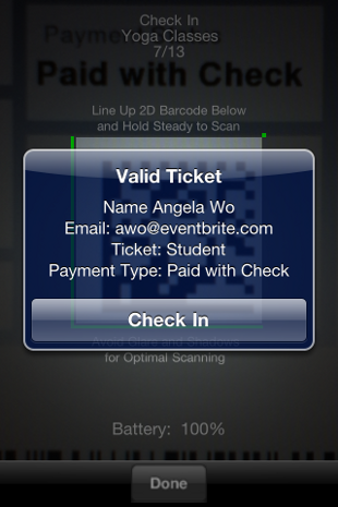 image5 Eventbrite iPhone app now lets organizers scan ticket barcodes