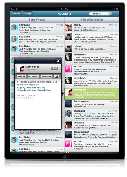 ipad contact First Look: HootSuite for iPad