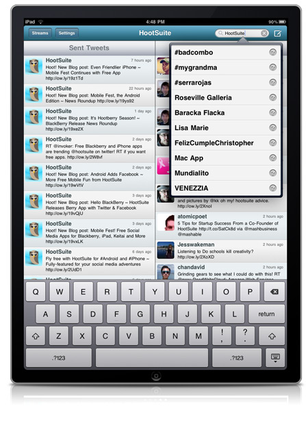 ipad search twitter First Look: HootSuite for iPad