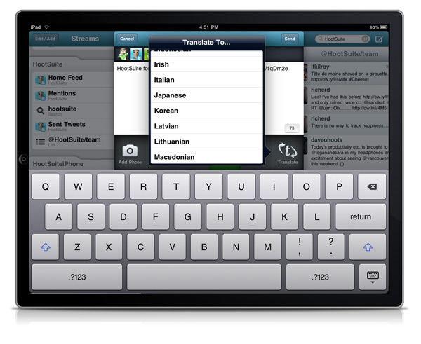 ipad translation First Look: HootSuite for iPad