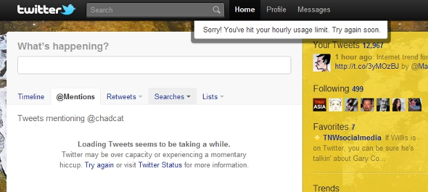 nothing New Twitter.com has rate limits too