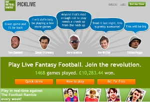 Real-time fantasy football game Picklive scores podcast partnership deal