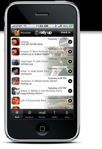 rally up aol 206x300 Top 7 Location Based Apps to Use When Foursquare is Down