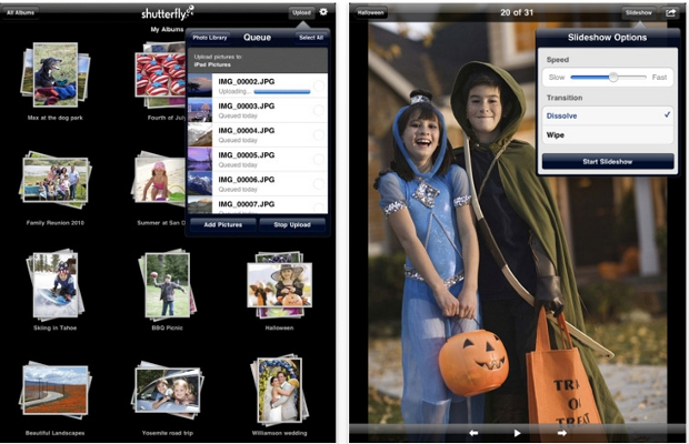 Shutterfly Flutters Onto The iPad