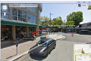 stephens w. broadway Vancouver BC Google Maps 1 300x202 Google Breached Canadians Privacy with Street View